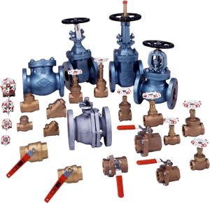 Various kinds of valves